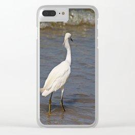 Seaside Scrutiny Clear iPhone Case