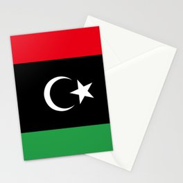 Official flag of the state of Libya, Authentic version to scale and color Stationery Cards