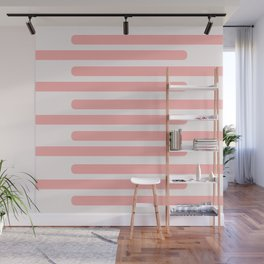 Pink Stripes With Spots Wall Mural