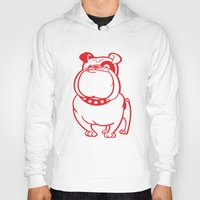 bulldog Hoodies featuring Bulldog by Studio Drawgood