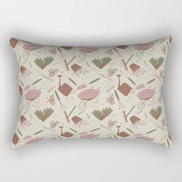 A Day in the Garden - Rose Rectangular Pillow
