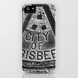 Bisbee Manhole Cover iPhone Case