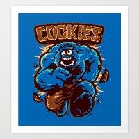 cookies Art Prints featuring Cookies! by WinterArtwork