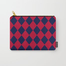 Red blue geometric pattern Carry-All Pouch