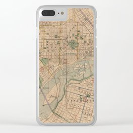 Vintage Map of Richmond Virginia (1876) Clear iPhone Case