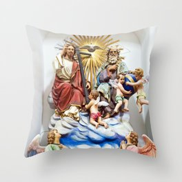 ANGELS - JESUS - GOD - SICILY - Church of THE GODFATHER - Forza d'Agro Throw Pillow