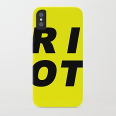 RIOT (BLACK AND YELLOW) Slim Case iPhone X
