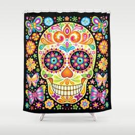 Día de Muertos Sugar Skull (Fiesta) Shower Curtain