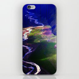 Down by the river blue iPhone Skin