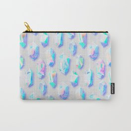Iridescent Rainbow Crystals Carry-All Pouch