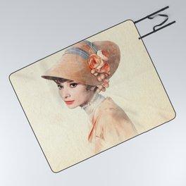 Audrey Hepburn - Eliza Doolittle - Watercolor Picnic Blanket