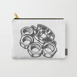 """Fashion Modern Design Print """"Brass Knuckles""""! Rap, Hip Hop, Rock style and more Carry-All Pouch"""