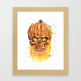 Scary Pumpkin Framed Art Print
