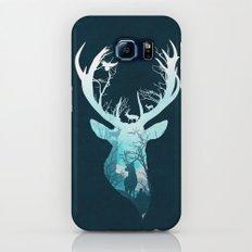 Deer Blue Winter Slim Case Galaxy S6