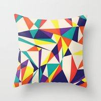 games Throw Pillows featuring Love Games by Anai Greog