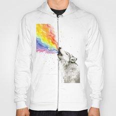 Wolf Rainbow Watercolor Howling Animal Whimsical Animals Hoody