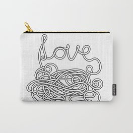 Spaghetti Love in Black and White Carry-All Pouch