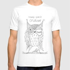 everything is gonna be owlright Mens Fitted Tee MEDIUM White
