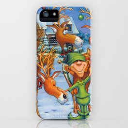 Elf Karl and the Reindeer iPhone Case