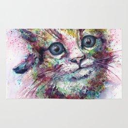 Kitten Cat watercolor print Rug