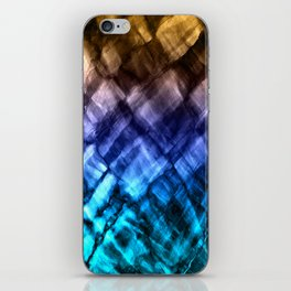 Rock Pool in Blue and Gold iPhone Skin