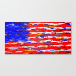 American Flag Original Painting By Zee Clark Canvas Print