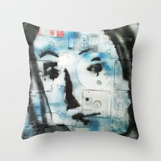 VENUSIAN FACE 4 (PUZZLED DISK VERSION) Throw Pillow
