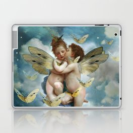 """Angels in love in heaven with butterflies"" Laptop & iPad Skin"