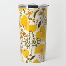 Yellow roaming wildflowers Travel Mug