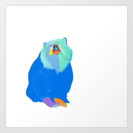 Color Bear Art Print