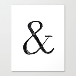 Ampersand watercolor Canvas Print
