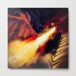 Fire Breather Metal Print