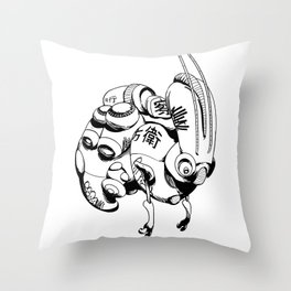 Maintenance Droid Throw Pillow