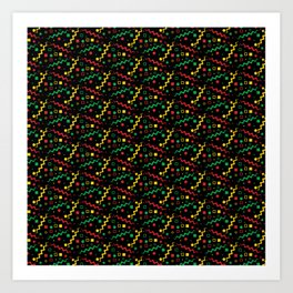 Retro Rasta Pattern Art Print