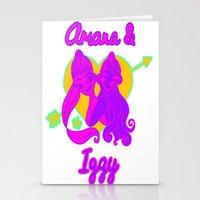 ariana grande Stationery Cards featuring Ariana Grande Ft. Iggy Azalea #2 by Glopesfirestar