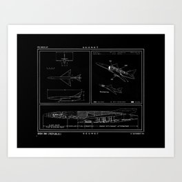 Republic AP 57 Inverted Schematic Art Print