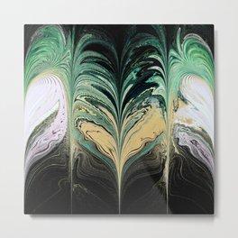 Water Leaf Metal Print