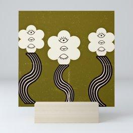 Flower Eyes Mini Art Print