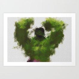 Smashing Green Art Print
