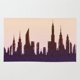 Modern City Buildings And Skyscrapers Sketch, New York Skyline, Wall Art Poster Decor, New York City Rug