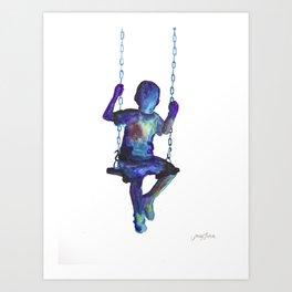 Child on the Swing Art Print