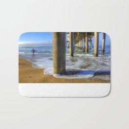 Goin' Surfin' Huntington Beach Pier Bath Mat