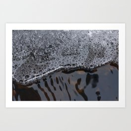 Ice and water flow Art Print
