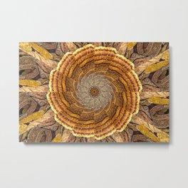 Bracket Fungi Mandala Metal Print