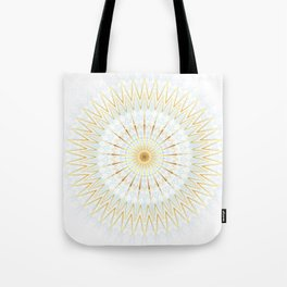 Gold White And Blue Mandala Tote Bag
