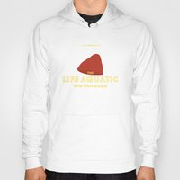 steve zissou Hoodies featuring The Life Aquatic with Steve Zissou Beanie Poster by She's That Wallflower