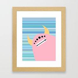 Pink Monster Framed Art Print