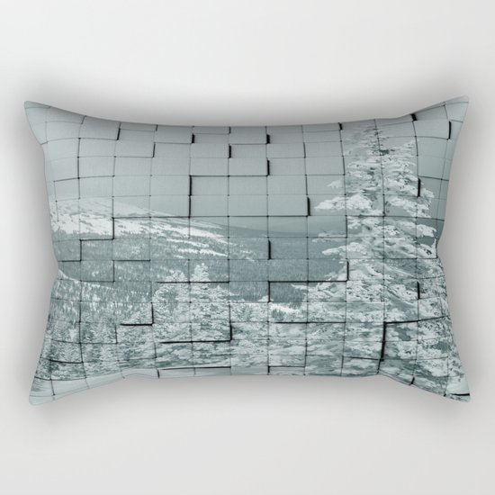 Winter collage Rectangular Pillow