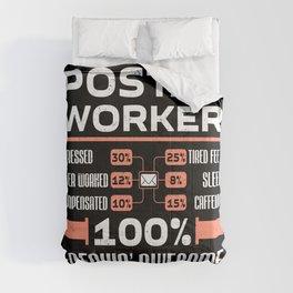 Postal Worker Postman Mailman Work Job Gift Comforters