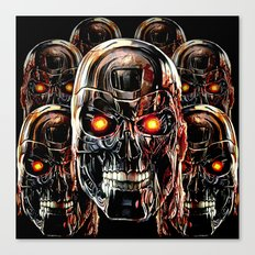Silver Steel Skull Army painting iPhone 4 4s 5 5s 5c, pillow case, mugs and tshirt Canvas Print